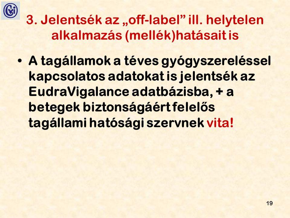 """19 3. Jelentsék az """"off-label ill."""