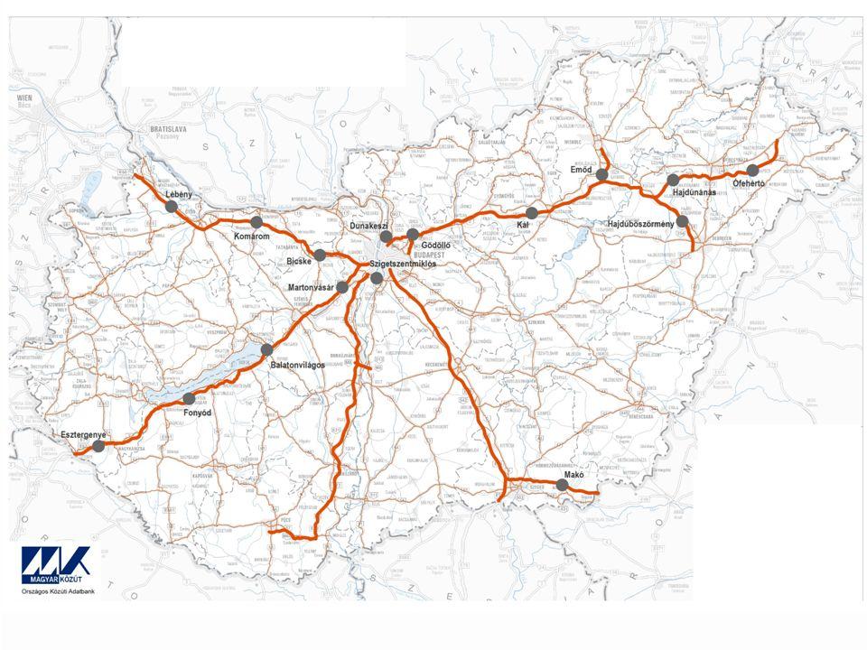 Jelenkor Jelenleg 16 autópálya mérnökség üzemel hasonló, modern kiépítéssel és felszereltséggel a kezdeti céloknak és a jelenlegi forgalomnagyság kihívásainak megfelelően.
