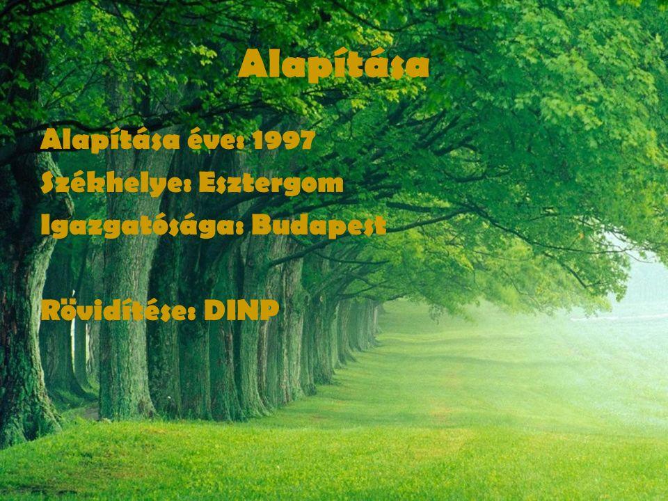 Alapítása Alapítása éve: 1997 Székhelye: Esztergom Igazgatósága: Budapest Rövidítése: DINP