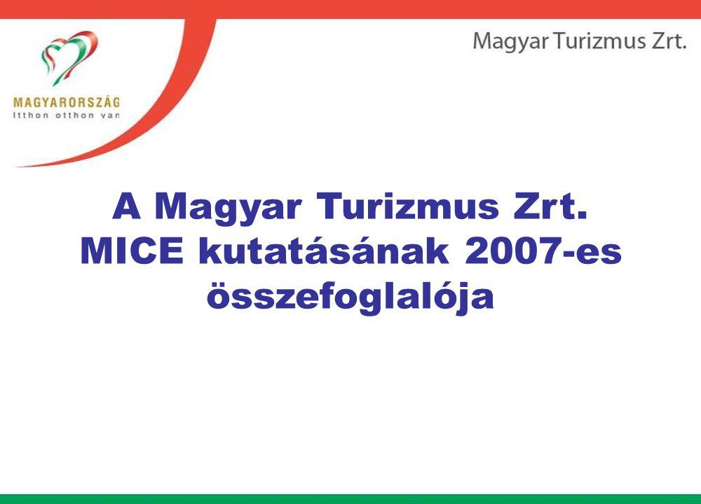 A Magyar Turizmus Zrt. MICE kutatásának 2007-es összefoglalója