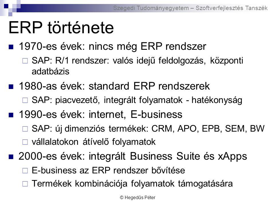 Szegedi Tudományegyetem – Szoftverfejlesztés Tanszék mySAP.com és NetWeaver Mi az a mySAP.