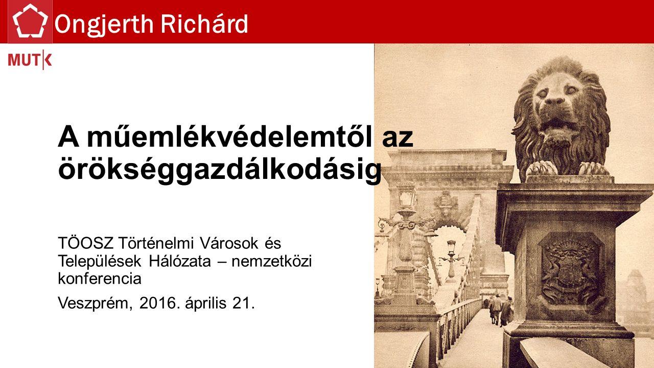 Mintacím szerkesztése A műemlékvédelemtől az örökséggazdálkodásig TÖOSZ Történelmi Városok és Települések Hálózata – nemzetközi konferencia Veszprém, 2016.