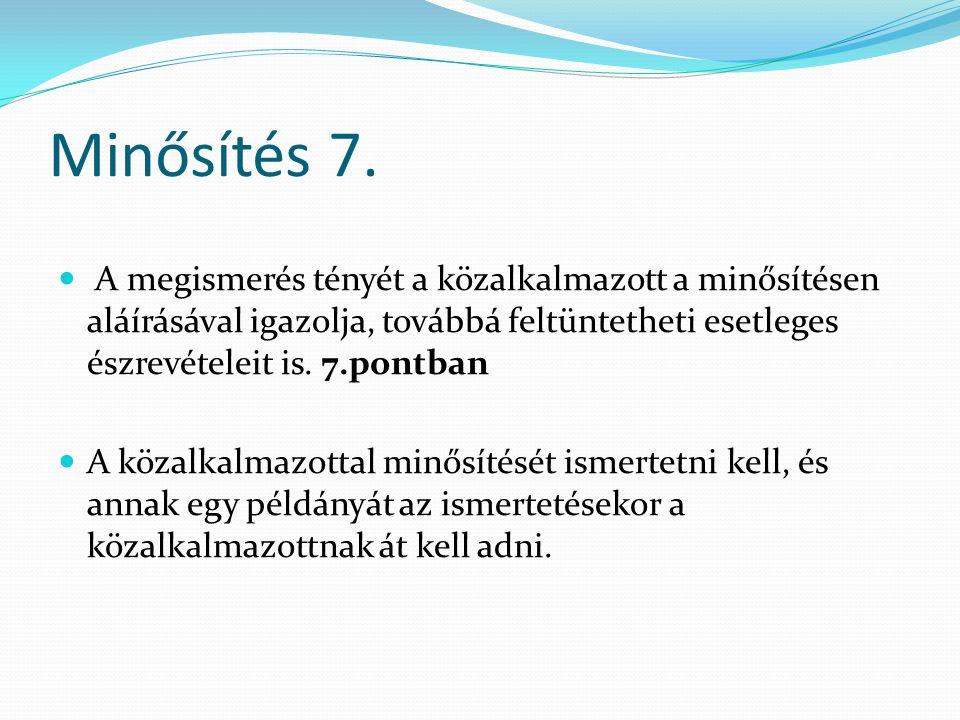Minősítés 7.