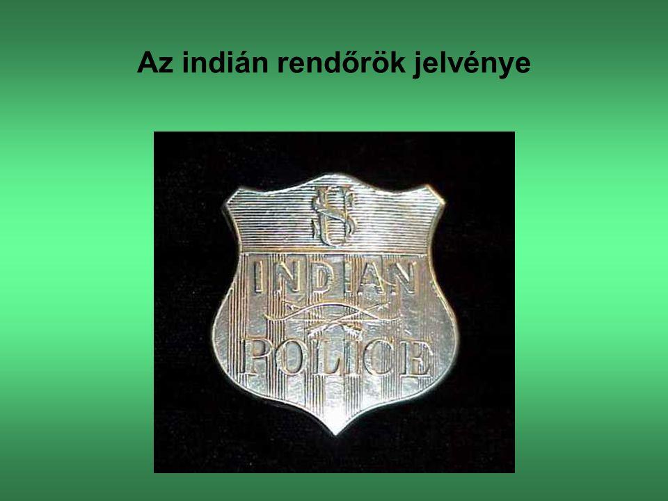 Az indián rendőrök jelvénye
