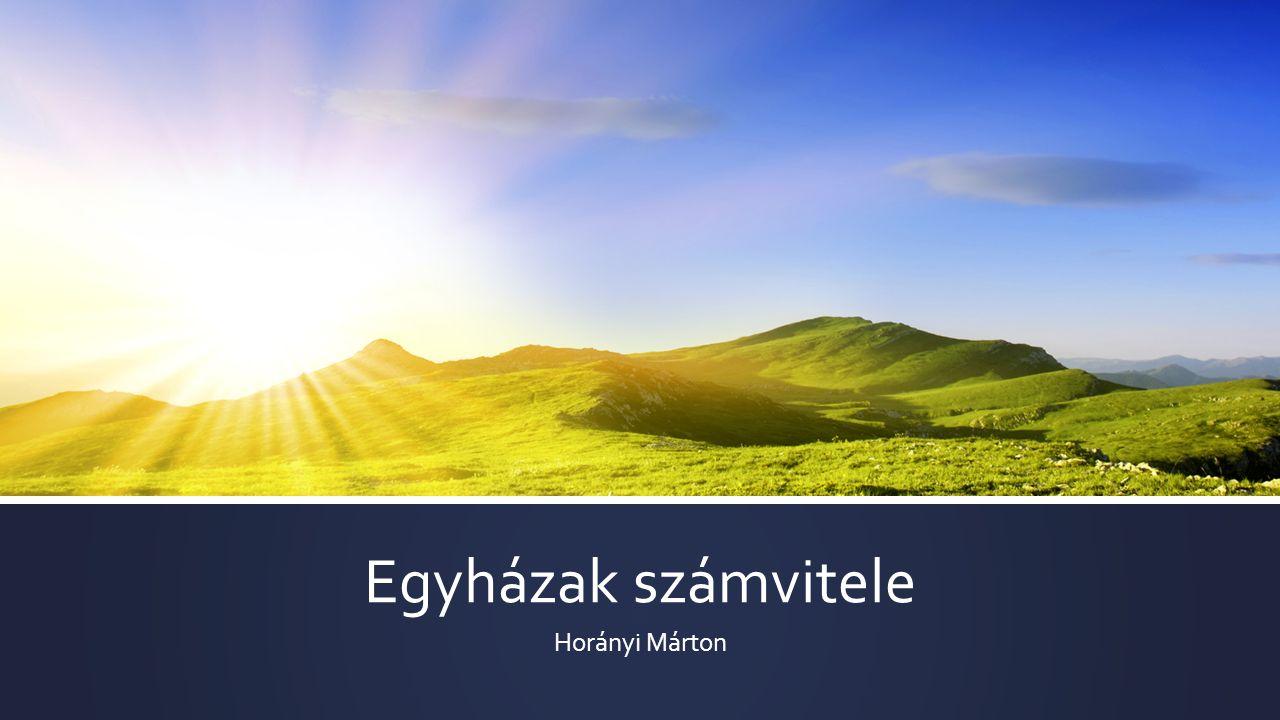 Egyházak számvitele Horányi Márton