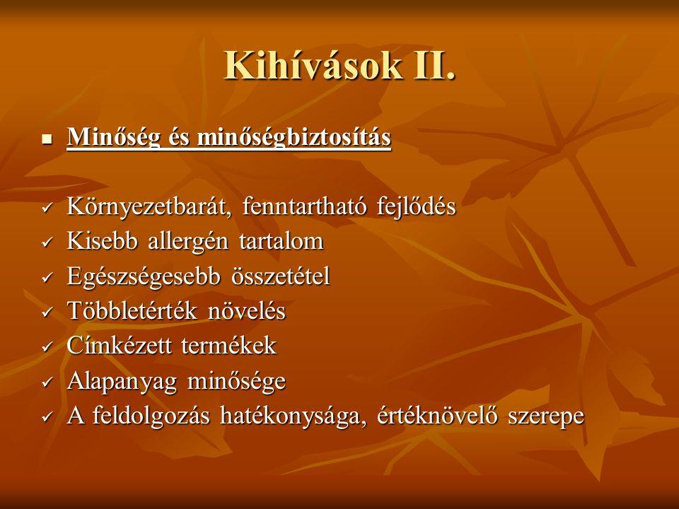 Kihívások II.