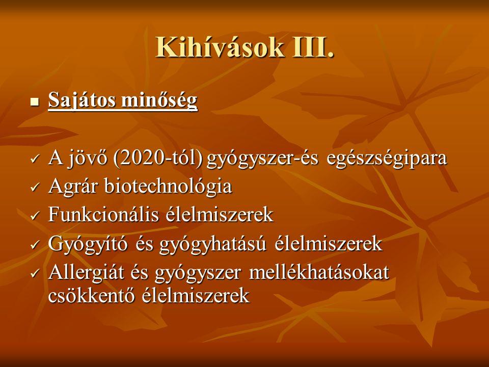 Kihívások III.