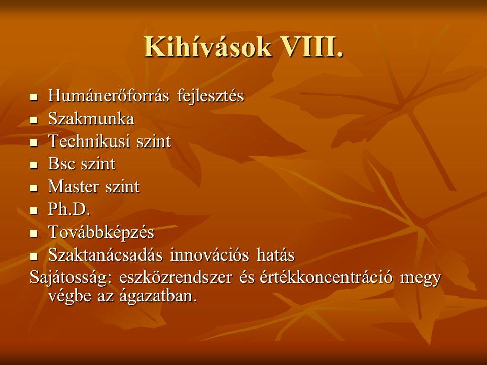 Kihívások VIII.