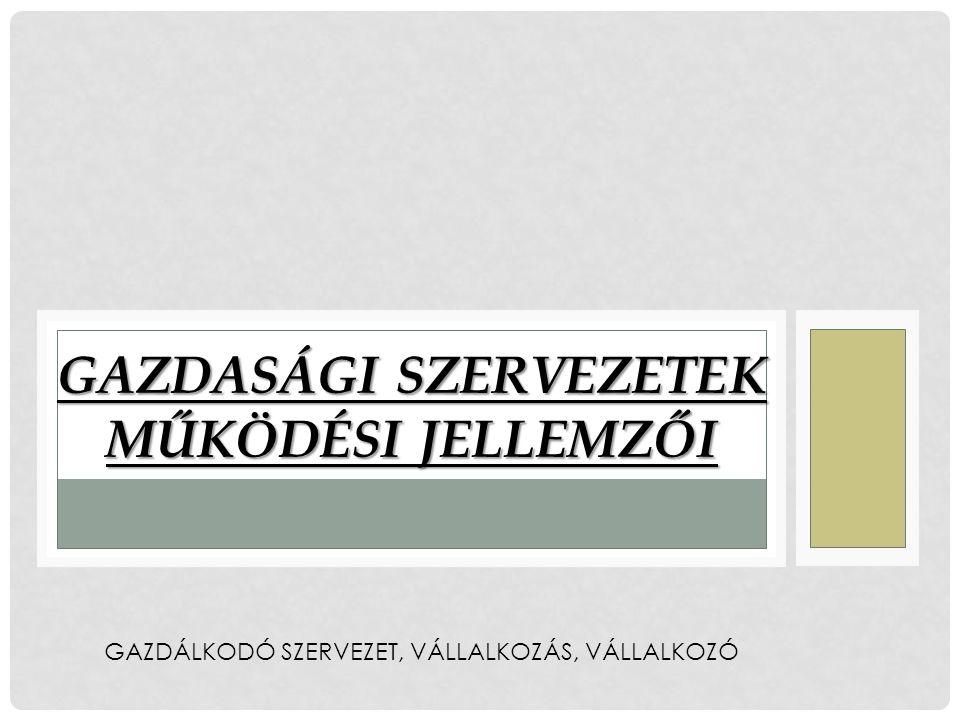 GAZDÁLKODÓ SZERVEZET, gazdálkodó szervezet A gazdálkodó szervezet olyan szervezeti egységet jelöl, amely egyéni és társadalmi szükségleteket elégít ki, elkülönülten gazdálkodik, és jól körülhatárolt keretek között működik.