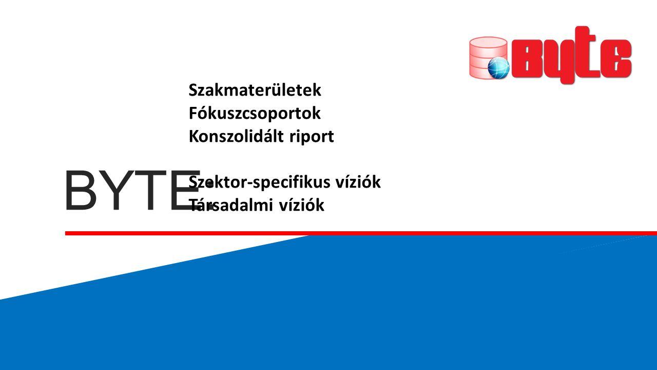 BYTE: Szakmaterületek Fókuszcsoportok Konszolidált riport Szektor-specifikus víziók Társadalmi víziók