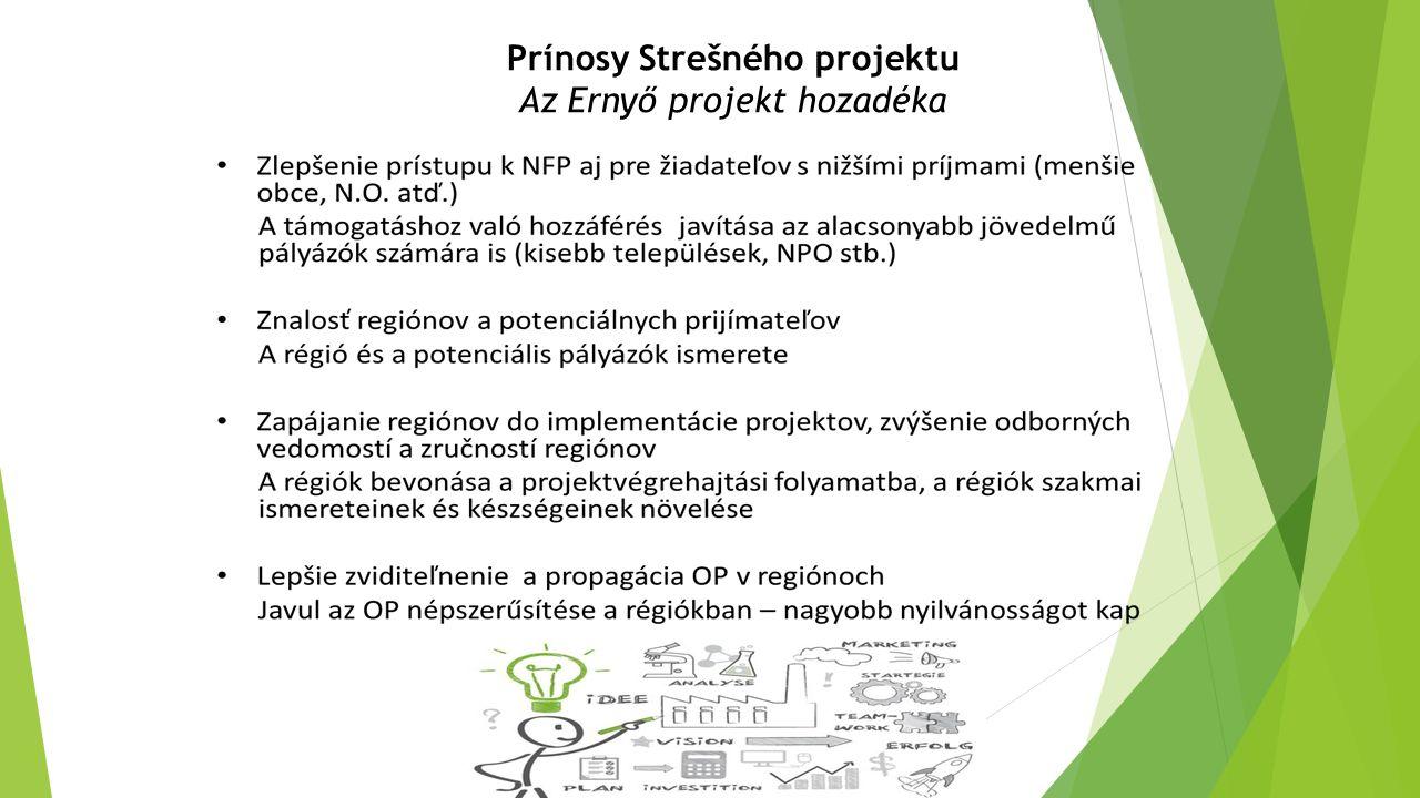 Prínosy Strešného projektu Az Ernyő projekt hozadéka