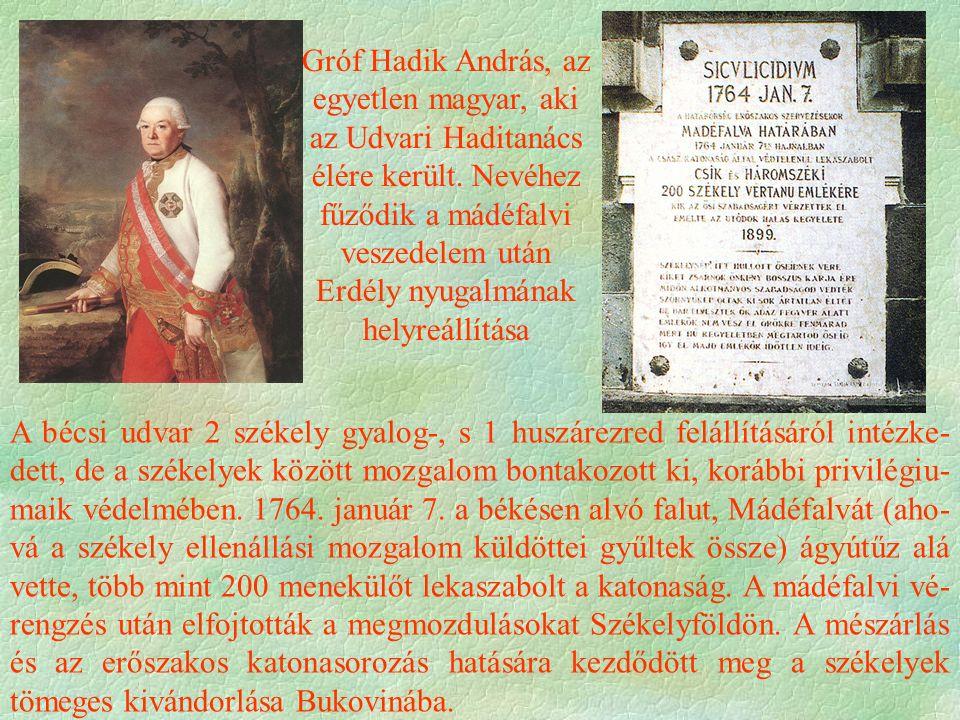 Gróf Hadik András, az egyetlen magyar, aki az Udvari Haditanács élére került.