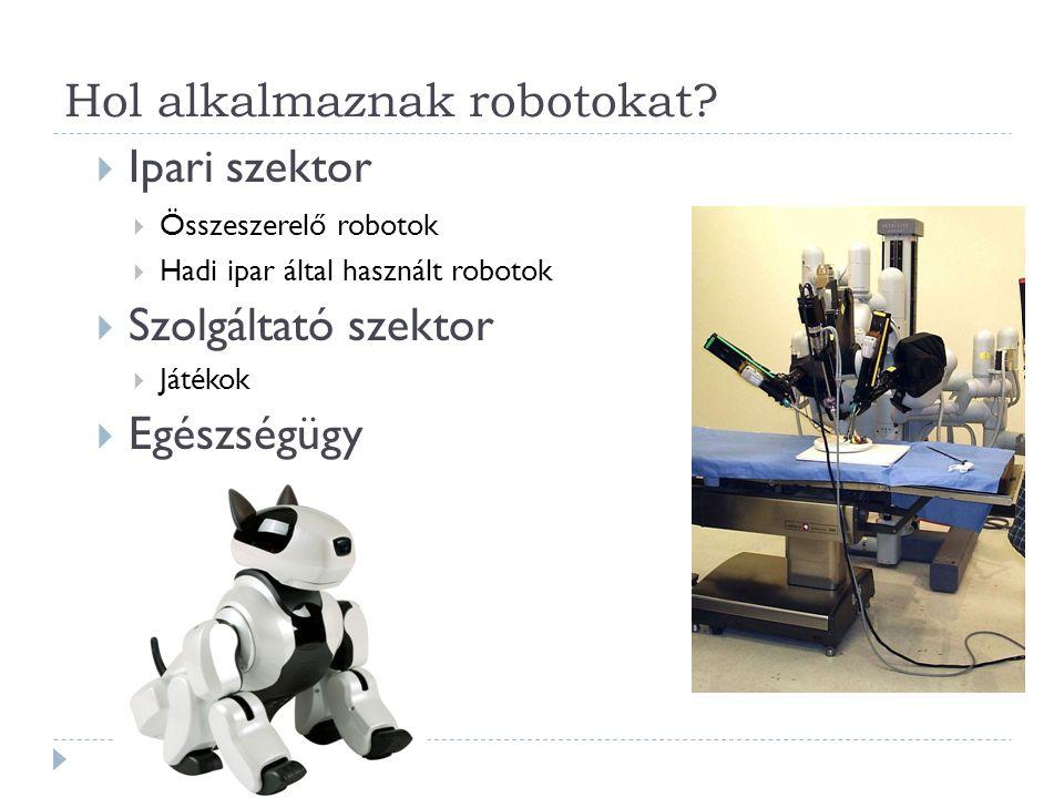 Hol alkalmaznak robotokat.