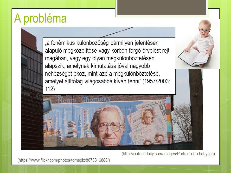 """A probléma (http://scitechdaily.com/images/Portrait-of-a-baby.jpg) (https://www.flickr.com/photos/tomspix/8673816888/) """"a fonémikus különbözőség bármi"""