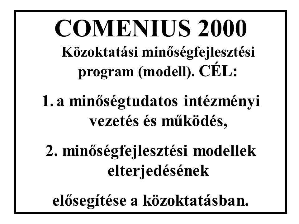 További speciális rendszerek: - ISO 14001(környezet) - COMENIUS 2000 (közoktatás) - KES : Kórházi Ellátási Standardok - CAF: Common Assestment Framewo