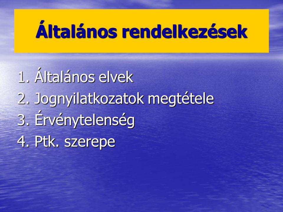 1. ÁLTALÁNOS ELVEK