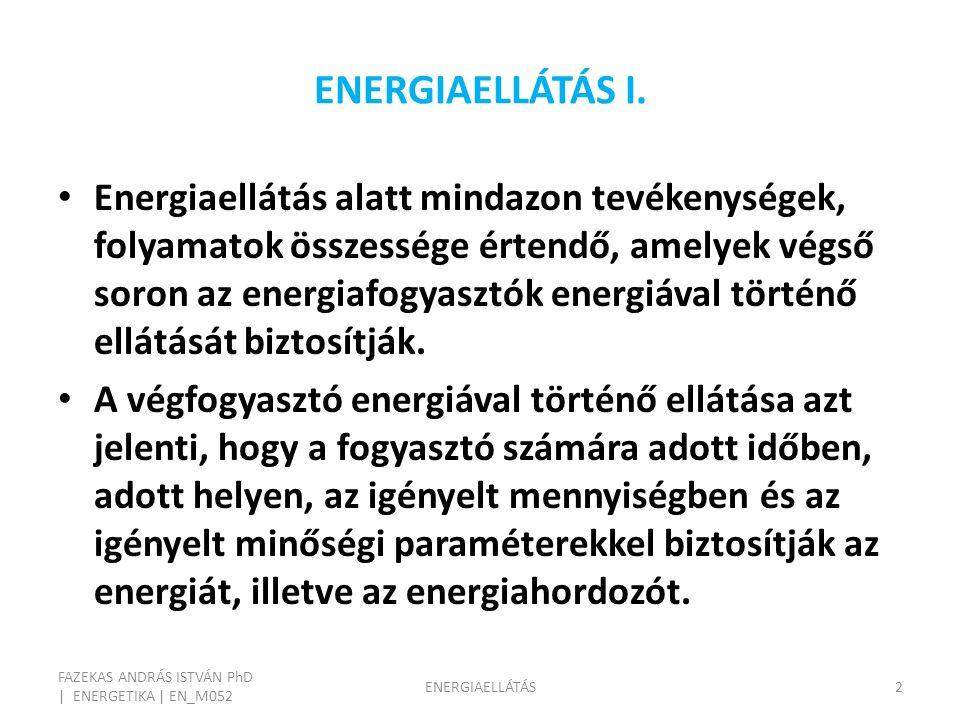ENERGIAELLÁTÁS I.