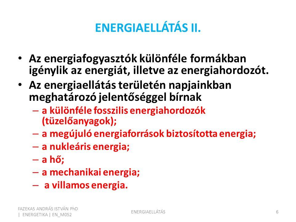 ENERGIAELLÁTÁS II.