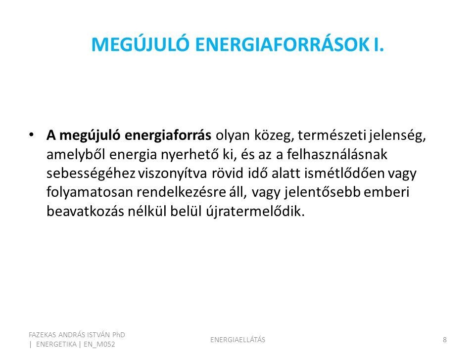 MEGÚJULÓ ENERGIAFORRÁSOK I.