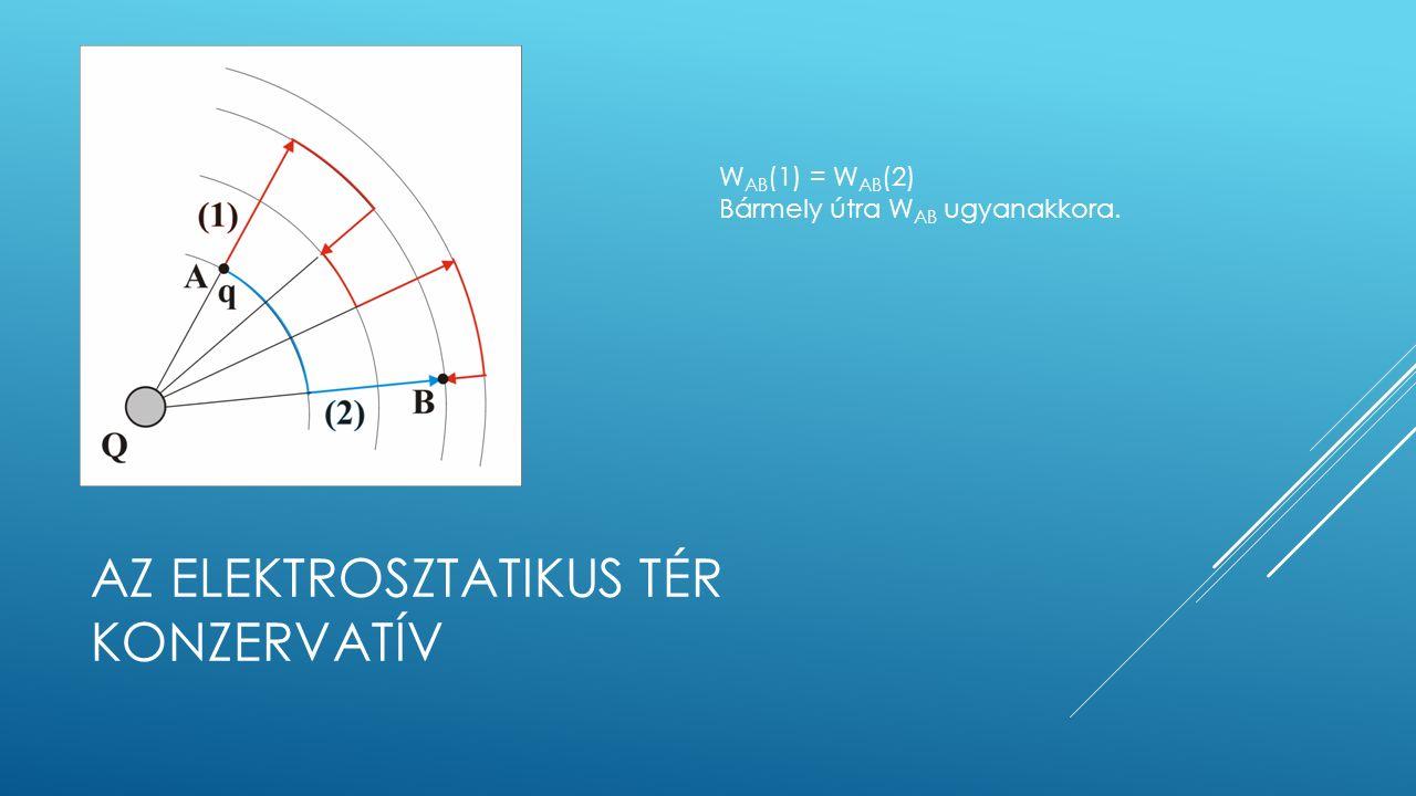 W AB (1) = W AB (2) Bármely útra W AB ugyanakkora.