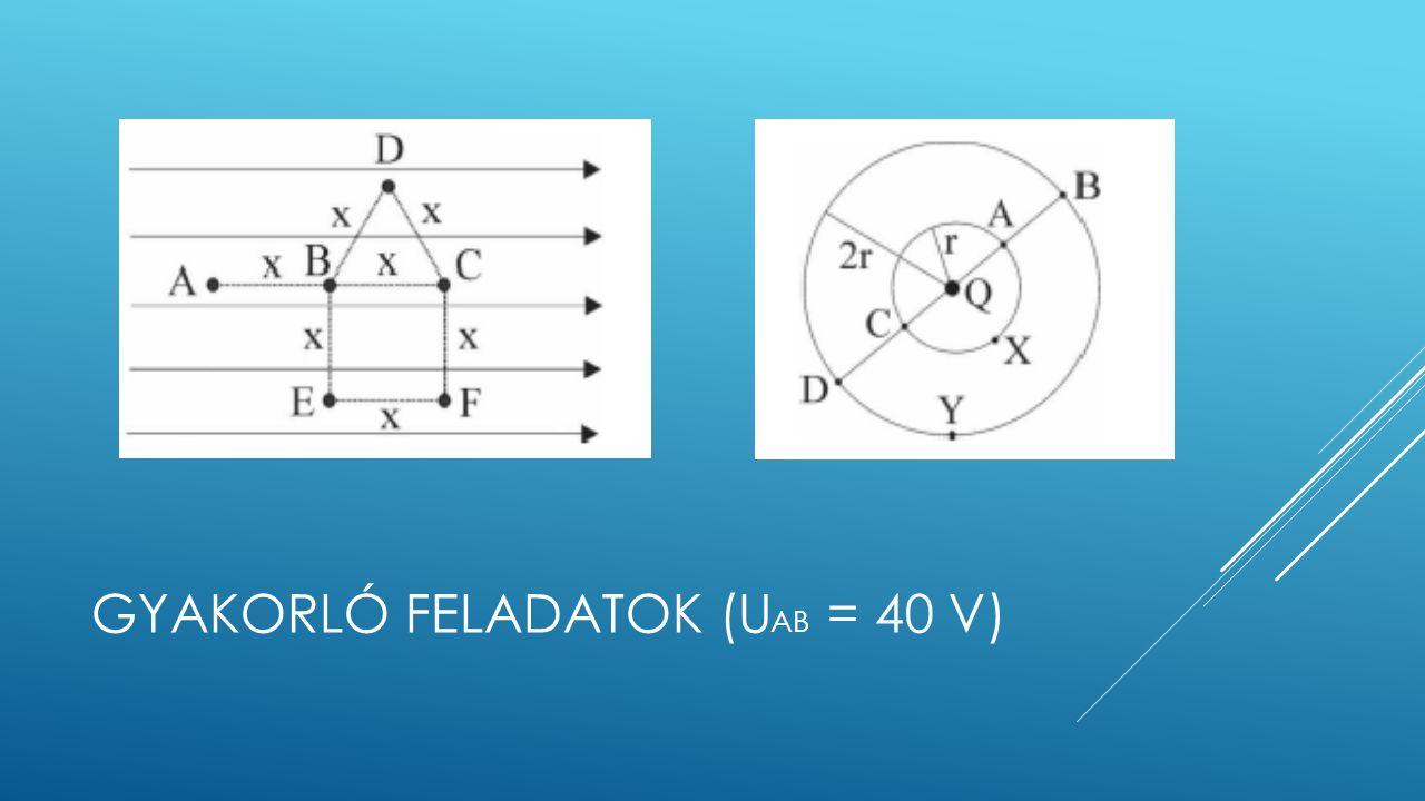 GYAKORLÓ FELADATOK (U AB = 40 V)