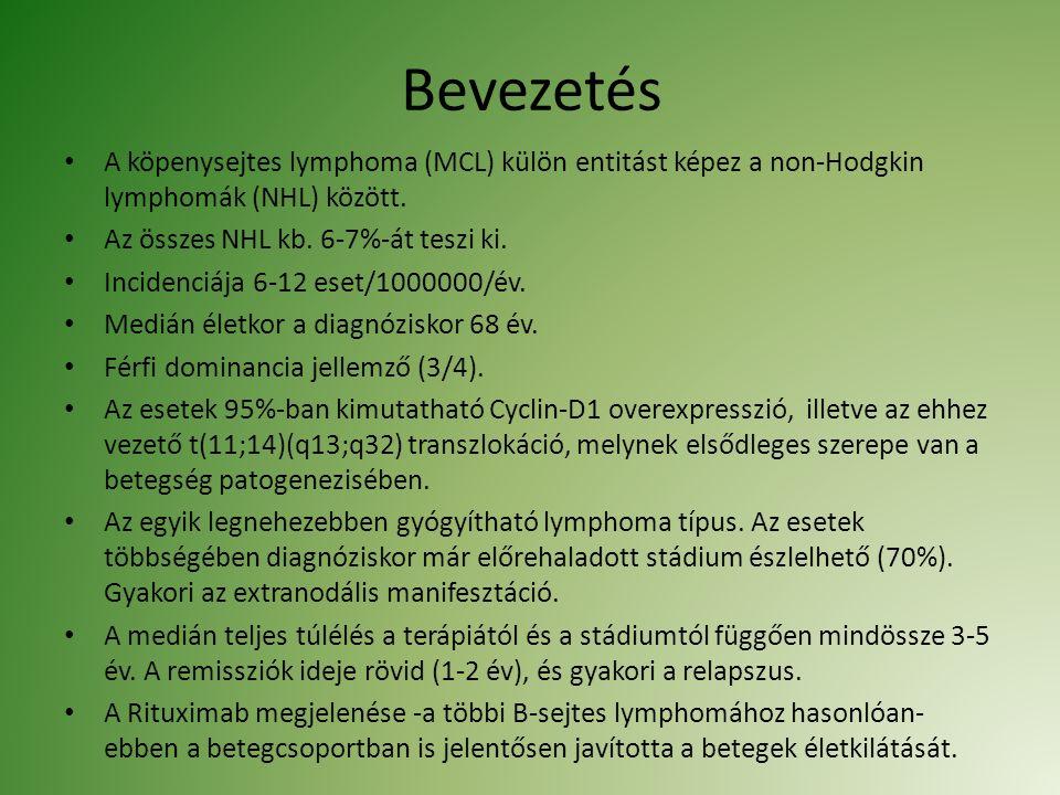 Bevezetés A köpenysejtes lymphoma (MCL) külön entitást képez a non-Hodgkin lymphomák (NHL) között.