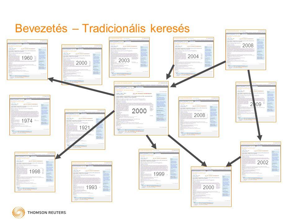 Bevezetés – Tradicionális keresés 2004 1974 1998 2000 1993 2003 2008 1999 2002 2000 2009 1921 1960