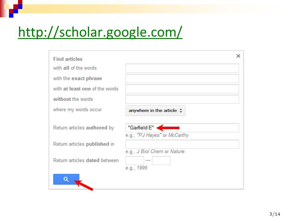 http://scholar.google.com/ 3/14