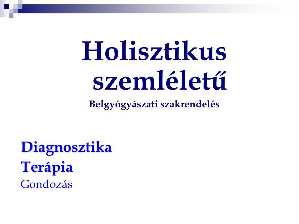 Holisztikus szemléletű Belgyógyászati szakrendelésDiagnosztikaTerápia Gondozás