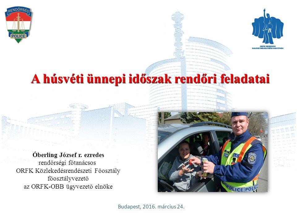 Együttműködés és közös fellépés ORFK Közlekedésrendészeti Főosztály2 A közlekedésbiztonság növelése - széleskörű együttműködéssel, - társadalmi összefogással Országos Polgárőr Szövetség (OPSZ) Az ORFK-Országos Balesetmegelőzési Bizottság 2016.