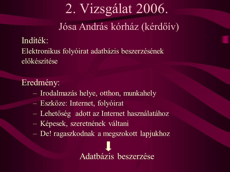 2. Vizsgálat 2006.