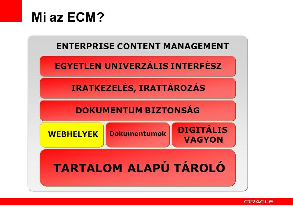 Corporate Internet SiteIntranets / Extranets 6 Mi az ECM? WEBHELYEK PORTÁLOK