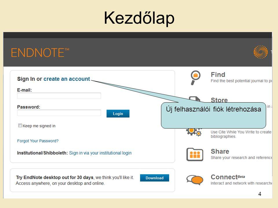 Kezdőlap Új felhasználói fiók létrehozása 4