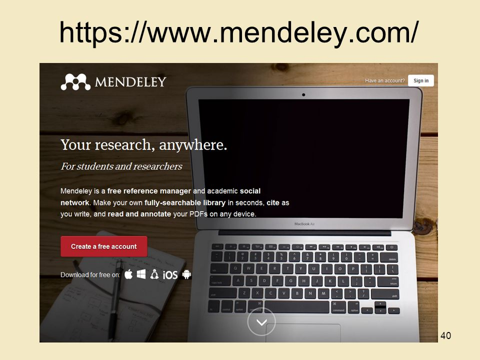 https://www.mendeley.com/ 40
