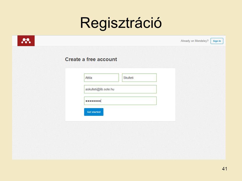 Regisztráció 41