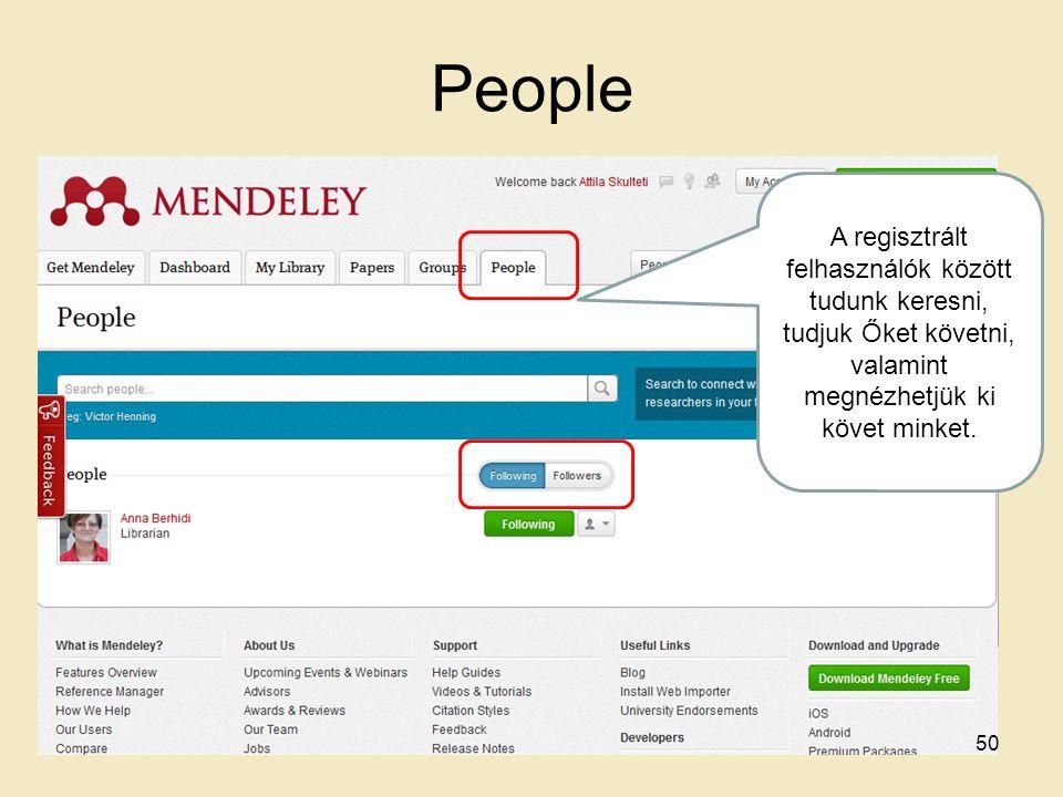People A regisztrált felhasználók között tudunk keresni, tudjuk Őket követni, valamint megnézhetjük ki követ minket.