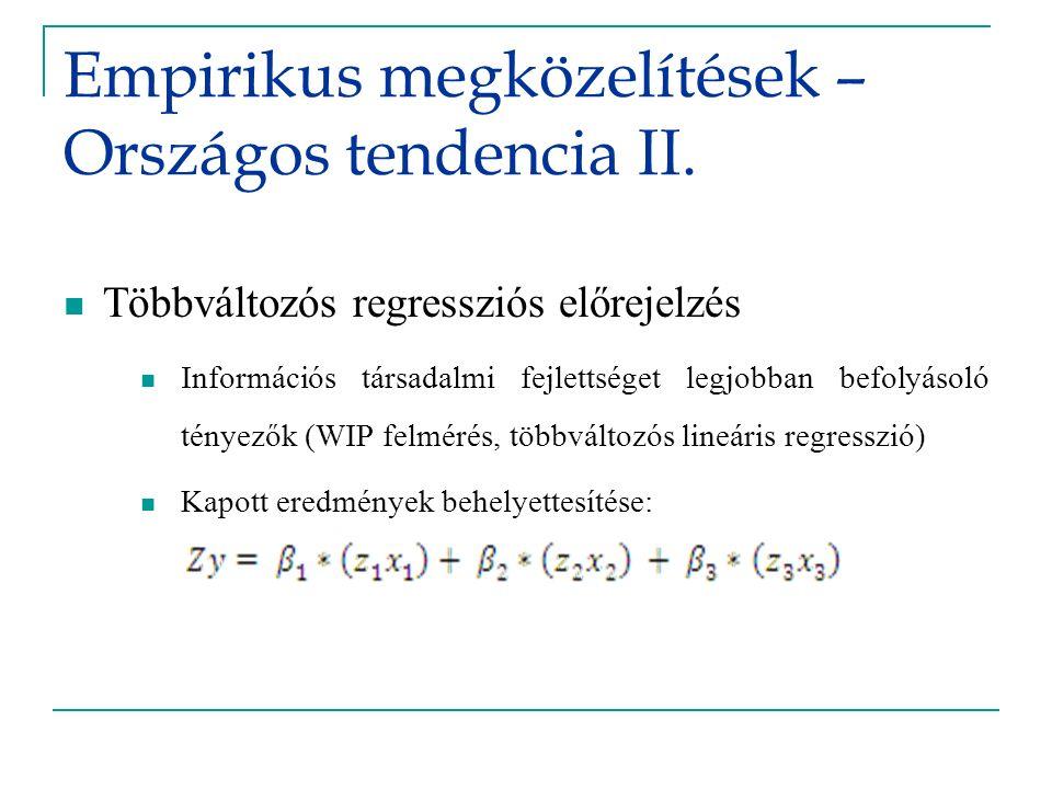 Empirikus megközelítések – Országos tendencia II.