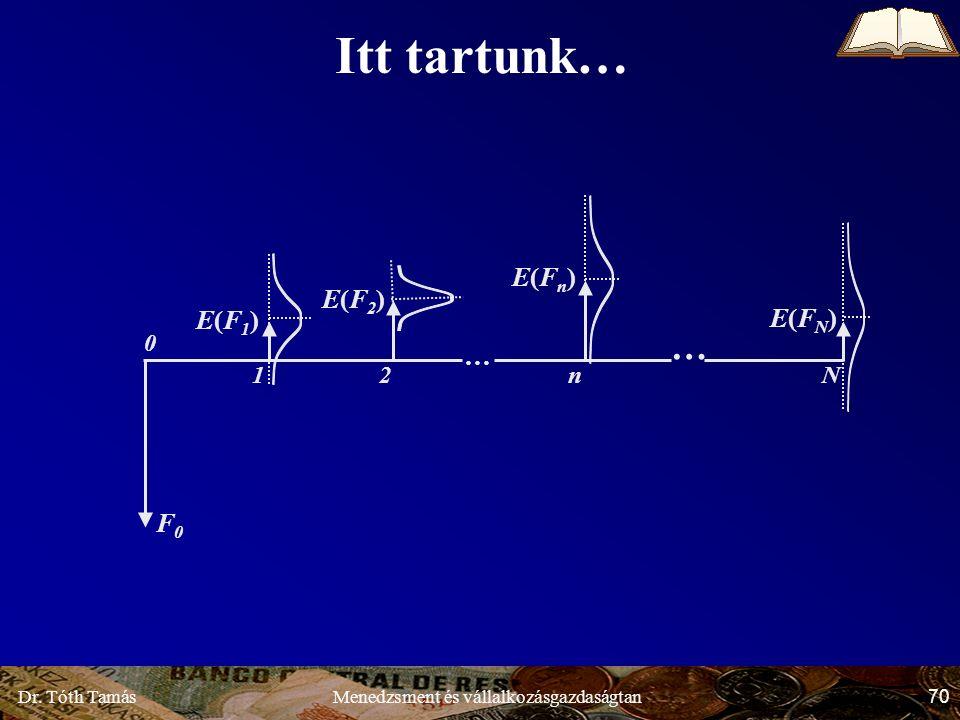 Dr. Tóth Tamás 70 Menedzsment és vállalkozásgazdaságtan Itt tartunk… E(F1)E(F1) E(F2)E(F2) E(Fn)E(Fn) E(FN)E(FN) F0F0 … … Nn21 0