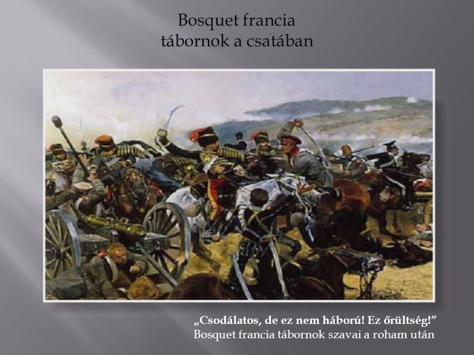 """Bosquet francia tábornok a csatában """"Csodálatos, de ez nem háború."""