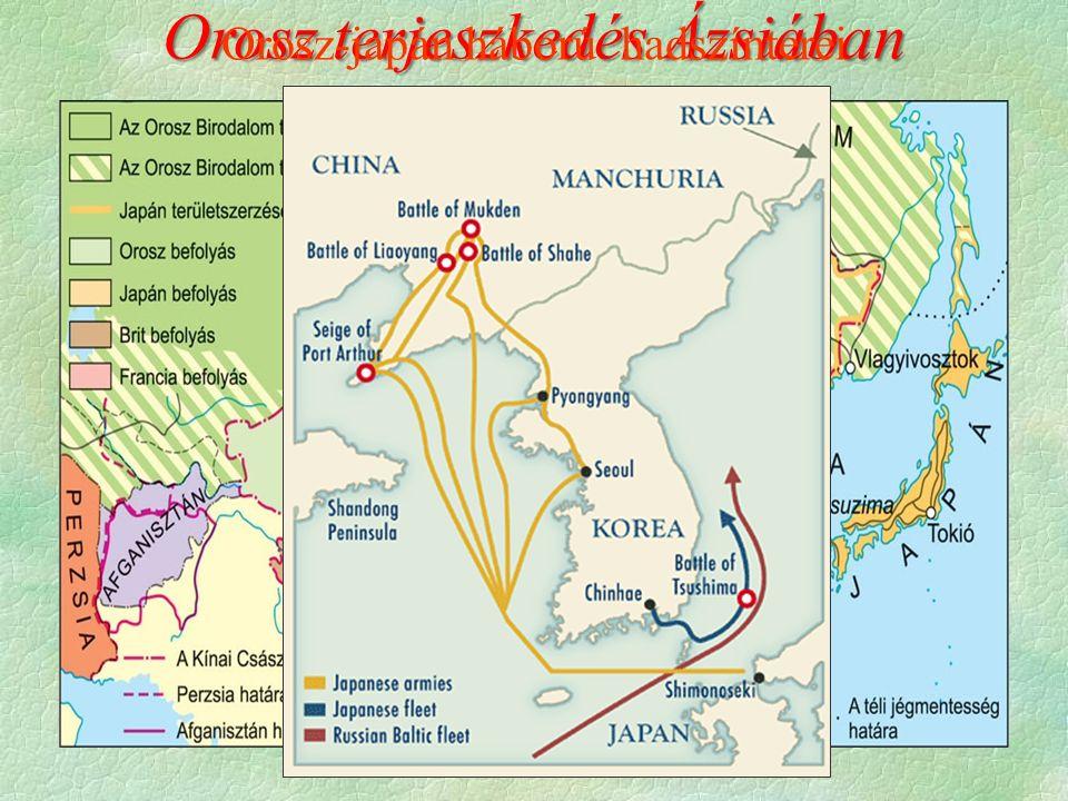 Orosz terjeszkedés Ázsiában Orosz-japán háború hadszínterei