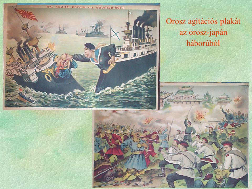 Orosz agitációs plakát az orosz-japán háborúból