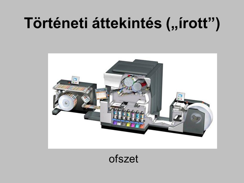 """ofszet Történeti áttekintés (""""írott )"""