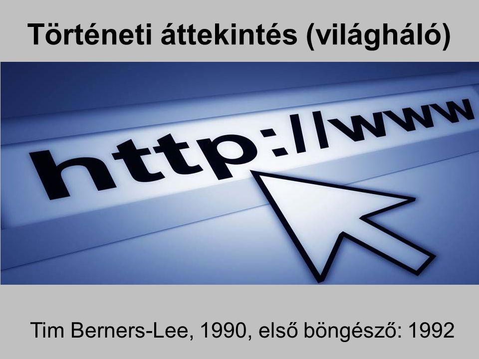 Tim Berners-Lee, 1990, első böngésző: 1992 Történeti áttekintés (világháló)