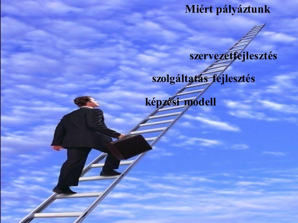 Miért pályáztunk képzési modell szolgáltatás fejlesztés szervezetfejlesztés