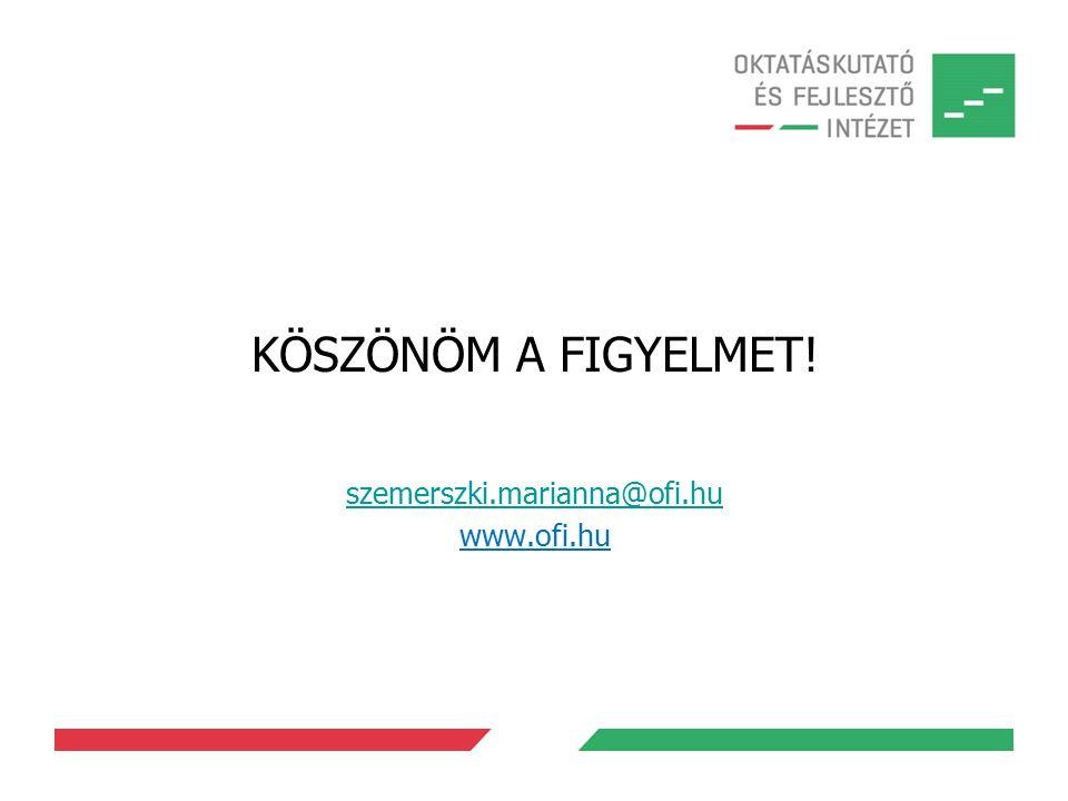 KÖSZÖNÖM A FIGYELMET! szemerszki.marianna@ofi.hu www.ofi.hu
