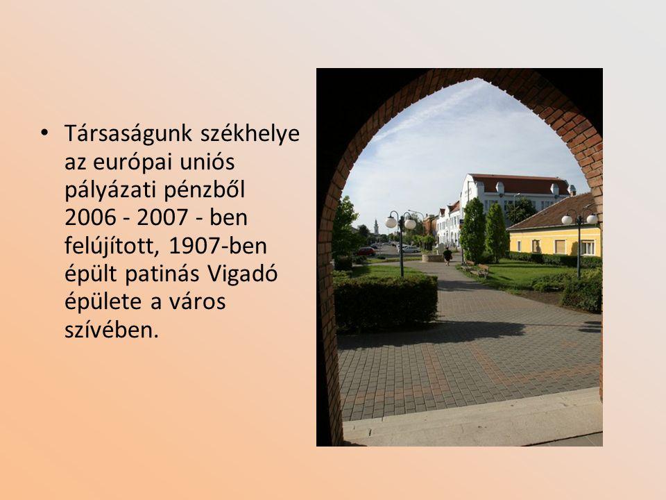 Társaságunk székhelye az európai uniós pályázati pénzből 2006 - 2007 - ben felújított, 1907-ben épült patinás Vigadó épülete a város szívében.