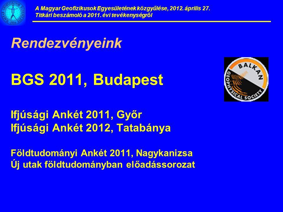 A Magyar Geofizikusok Egyesületének közgyűlése, 2012.