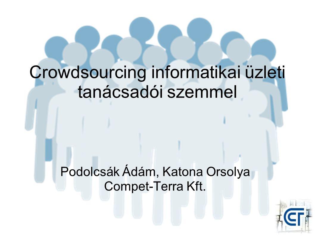 Crowdsourcing informatikai üzleti tanácsadói szemmel Podolcsák Ádám, Katona Orsolya Compet-Terra Kft.