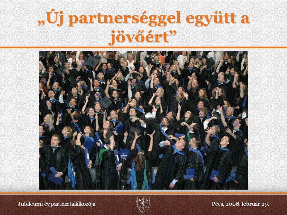 """Jubileumi év partnertalálkozójaPécs, 2008. február 29. """"Új partnerséggel együtt a jövőért"""""""