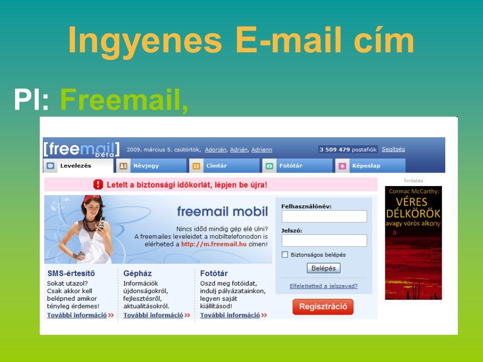 Ingyenes E-mail cím Pl: Freemail,